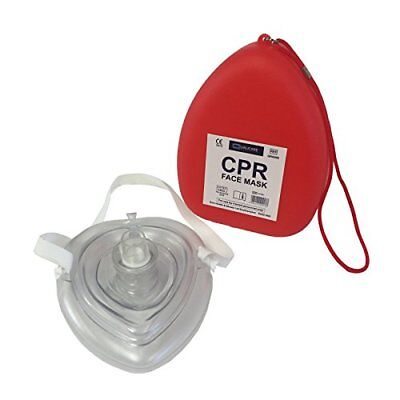 Qualicare Cpr Face Mask Resuscitation First Aid Breathe Reusable Air Mouth ...
