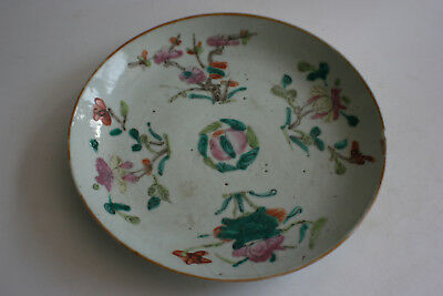 19th Century Antique Chinese Porcelain Hand Painted Plate - Marks
