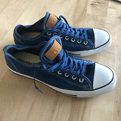 CONVERSE ALL-STAR CHUCK TAYLOR Lo Blue Canvas Sneakers Shoes Men 9.5 Women 11.5