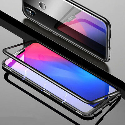 Magnetic Adsorption Metal Tempered Glass Case Cover For Samsung Galaxy S9 S8PLUS
