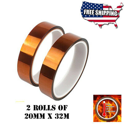 2 rolls 10mmX30mt Heat resistant tapes sublimation Press Transfer Thermal Tape