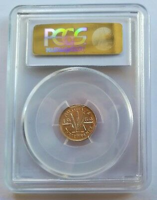 Australian 1964 (m) THREEPENCE 3D PCGS Graded MS67