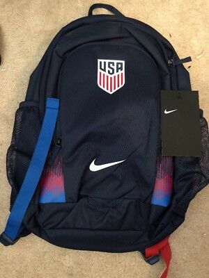 1a32ad2ec5 Nike Authentic USA Soccer Stadium Backpack Midnight Navy White BA5457-410