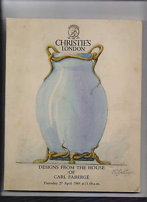 Designs from the house of Carl Fabergé. Christie's Auction Catalogue, Apr 1989