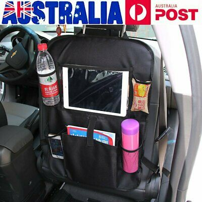 Car Back Seat Tidy Organiser Storage Pocket Pouch Travel Kid Baby Bag Holder LD