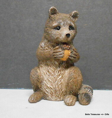 Raccoon  with Acorn High Quality Resin Figurine