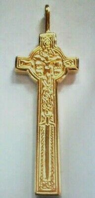 Double-Sided MacMillan Celtic CROSS by Sherridan Smith Gold Plated Pendant NEW!!