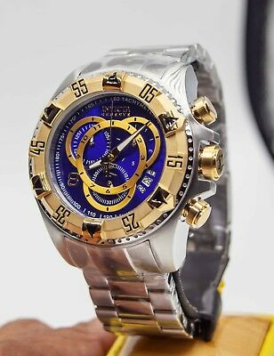 aacfd0b5e Invicta 1878 Reserve Excursion Touring Chronograph SS Blue Dial Men's Watch  New