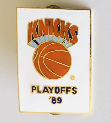 Knicks Basketball Playoffs 1989 NBA Pin Badge Authentic Vintage (C5)