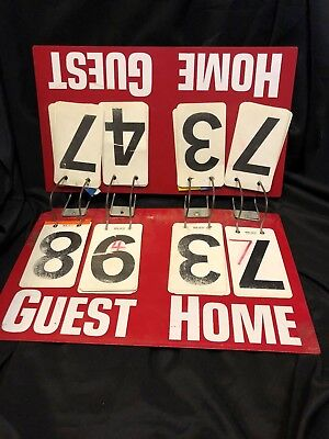 LARGE Vintage Game Scoreboard Hard Plastic Guest Home Score Keeper Red WM Getz