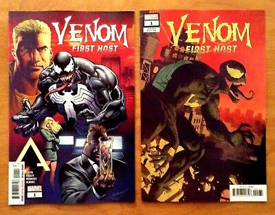 Venom First Host 1 2018 Main Cover + Paolo Rivera Variant Cover  Marvel  NM