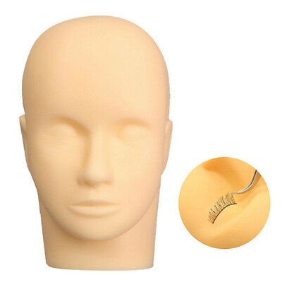 AU Ship Massage Training Mannequin Head Makeup Practice Eyelash Lashes Extension