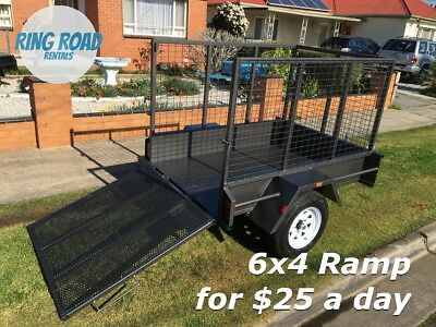 EASY LOAD 6x4 Ramp Trailer Hire - RENT ME for only $25 per day - MELBOURNE