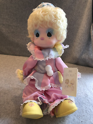 """Precious Moments *Taffy the Clown* Happiness is the Lord, Pink Girl, 14"""" w/stand"""