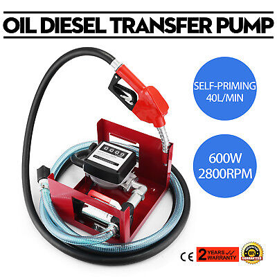 H/D Self Priming Electric Oil Pump Transfer Bio Fuel Oil Diesel 230v 40L/Min New