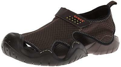 Genuine Crocs Mens Swiftwater Sandal Espresso Size US 11 Fast Shipping