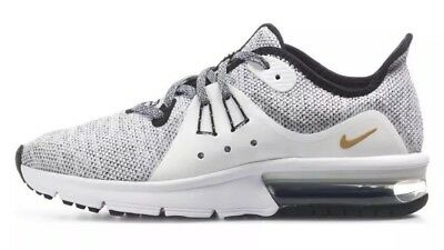 202369f9d5 Nike Air Max Sequent 3 GS Youth Size 5.5Y Training Shoes White/Black 922884