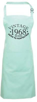 Year 1941 to 2000 Funny Birthday Aqua Cooking Apron Aged To Perfection Old Bbq