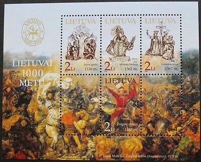 Lithuania Millenary stamp sheet, 2004, Lithuania, SG ref: MS838, 4 stamp set MNH