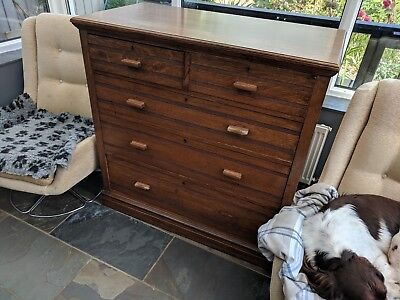 Large Edwardian Oak Chest Of drawers