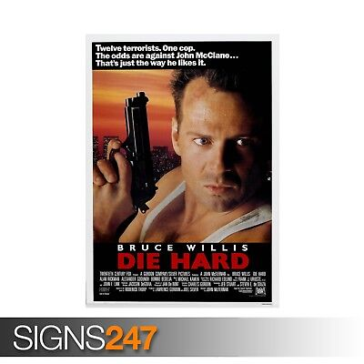 DIE HARD - CLASSIC 80S (ZZ036)  MOVIE POSTER Poster Print Art A0 A1 A2 A3