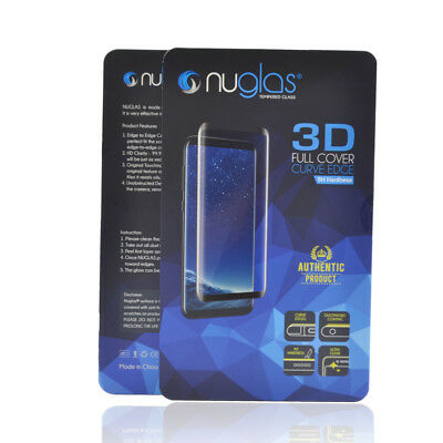 Samsung Galaxy S9 S8 Plus Note 9 3D Nuglas Tempered Glass Screen Protector