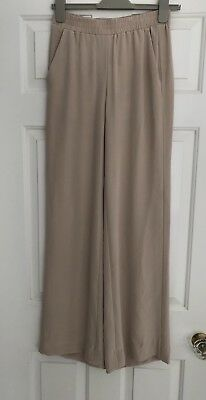 H&M Premium 100% Pure Silk Trousers Pale Pink Nude New With Tags Gorgeous Fabric