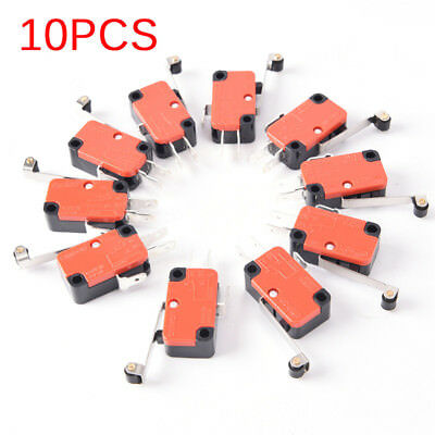 10PCS Micro-Miniature Switch Spdt Hinge Roller Lever 15A V-156-1C25 PBTH