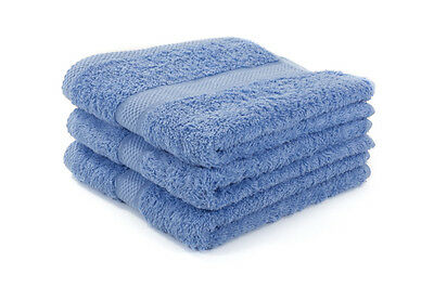 36 X Blue Luxury 100% Egyptian Cotton Hairdressing Towels / Salon / 50x85cm