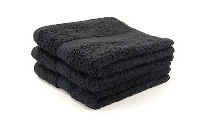 36 X Black Luxury 100% Egyptian Cotton Hairdressing Towels / Salon / 50x85cm