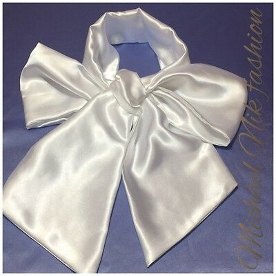 Men's Satin Steampunk Cravat Victorian Cravat Tie Bow