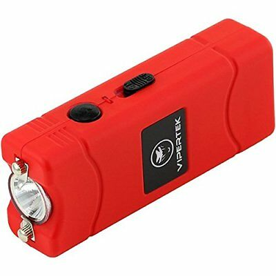 VIPERTEK RED VTS-880 10 BV Mini Rechargeable LED Police Stun Gun + Taser Case US