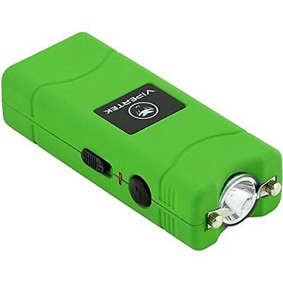 VIPERTEK GREEN VTS-880 10 BV Mini Rechargeable LED Police Stun Gun + Taser Case