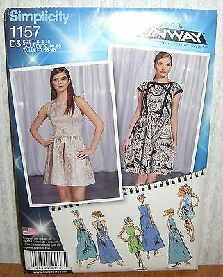 Simplicity 8094 Sewing Pattern Project Runway Misses Sizes 4 12