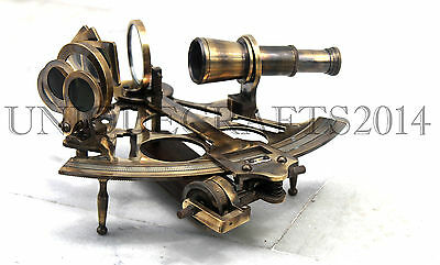 Solid Brass Sextant Working Nautical Vintage Maritime Reproduction Sextant.