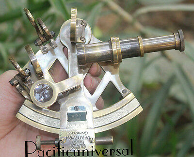"Antique Nautical Solid Brass Sextant 3"" Ship Astrolabe Working Instrument Gitf."