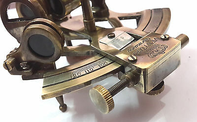 """Nautical Sextant 3"""" Solid Brass Antique Vintage Navigation Working Xmas Gift."""