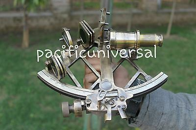 Antique Brass Sextant Collectible Heavy Brass Navy Working Sextant Nautical Gift