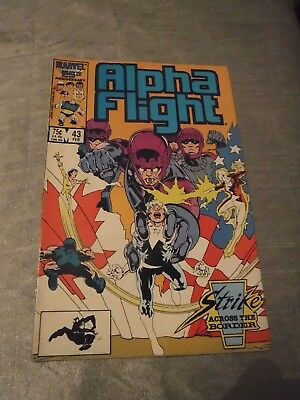 Alpha Flight #43 Sentinels Marvel 1987 FN- P&P Discounts