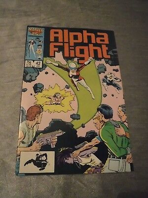 Alpha Flight #42 Purple Girl Marvel 1987 FN P&P Discounts