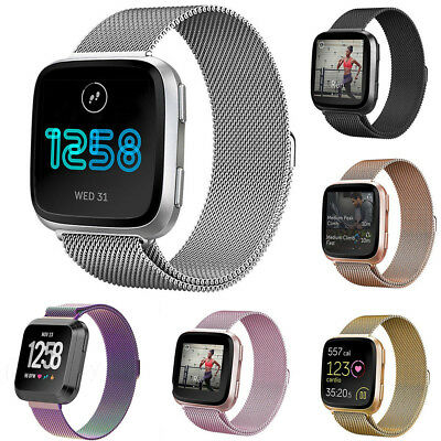 Milanese Loop Mesh Wrist Watch Band Strap for Fitbit Versa Stainless Steel Metal