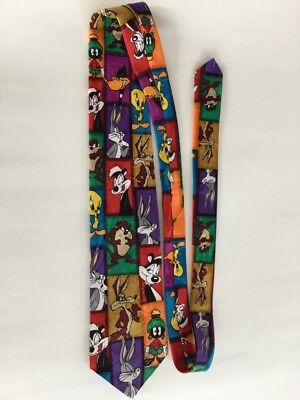 Looney Tunes Mania Warner Bros. Novely cartoon characters neck tie 1995 RARE