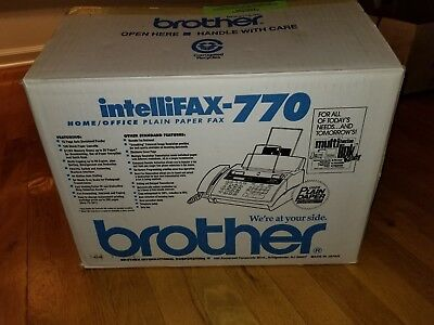 BRAND NEW NEVER USED Brother Intellifax-770 Plain Paper Fax Phone Machine