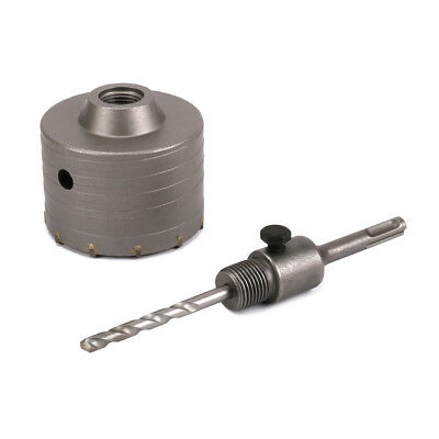 Cement Bricks 90mm Wall Hole Saw Drill Bit & 110mm Connect Rod Round Shank Kit