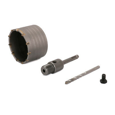 35mm Wall Hole Saw Carbide Drill Bit /& 110mm SDS Plus Shaft for Cement Bricks