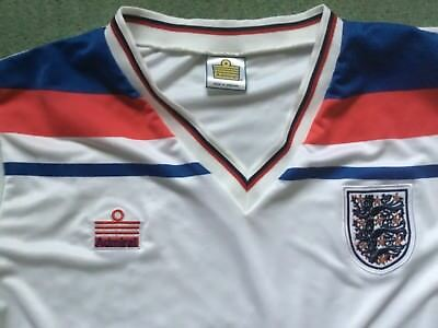 f42bf63ef ENGLAND RETRO ADMIRAL football shirt short sleeve Medium away NEW c ...
