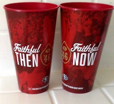 Lot 2 San Francisco 49ers Cups 32 oz Levi's Stadium Faithful Now and Then (1946)