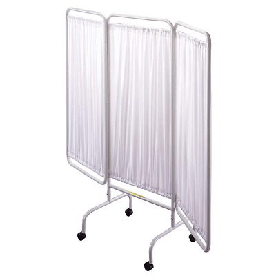 R&B WIRE PRODUCTS INC. Privacy Screen w/Casters, 3 Panel, White - PSS-3C