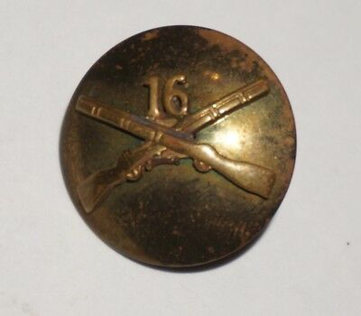 16th Infantry Regiment Theater Made Collar Disc Pin Post WWII US Army M2219