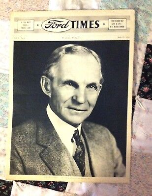 1943 FORD TIMES Extremely RARE! Vol. 1 No.9 July 23, 1943  Tabloid Format FoMoCo